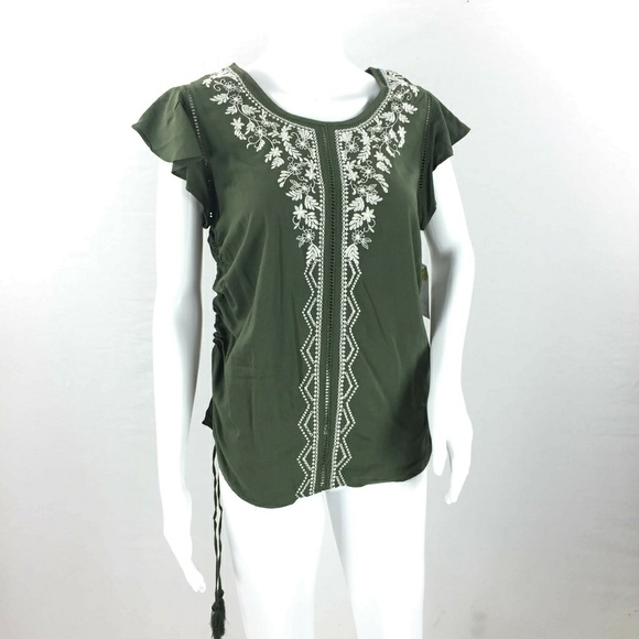 9ab80919567eaa Time and Tru Tops | Embroidered Rayon Blouse Nwt S | Poshmark